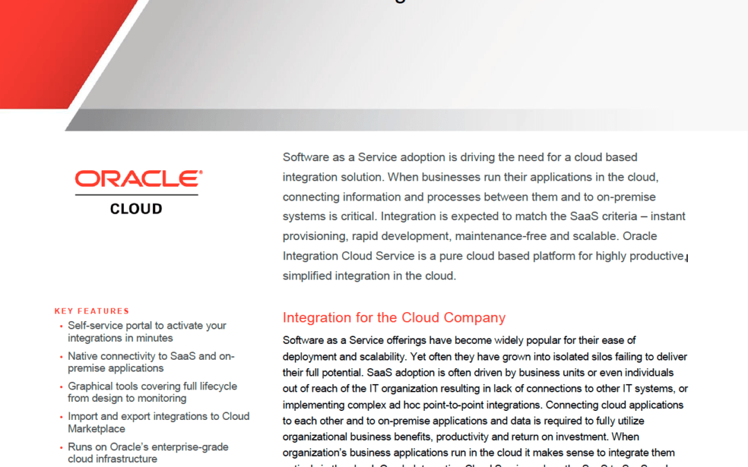 Oracle Integration Cloud Service